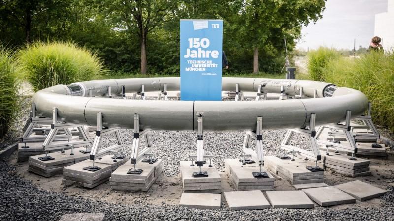 Hyperloop Teststrecke mit UHPC an der Technischen Universität München
