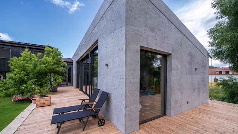 Haus_Anbau_Leichtbeton_Sichtbeton_Heidelberger_Beton_Zementfliessestrich_Cemflow