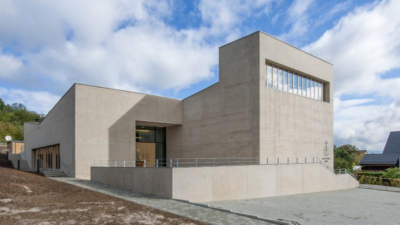 Neuapostolische_Kirche Pliezhausen_Leichtbeton_Sichtbeton_Farbbeton